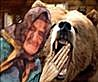 Thumbnail still of the little old woman and a bear taken from my Flash MX animated re-working of poet laureate Robert Southey's story of The Three Bears. It predates Goldilocks. The film features HIS version of the plot re-worked by me with brand new original rhyming lyrics to a musical theatre tune.